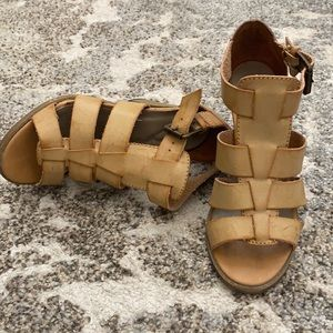 Candies natural leather heels